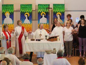 Women celebrating a Mass